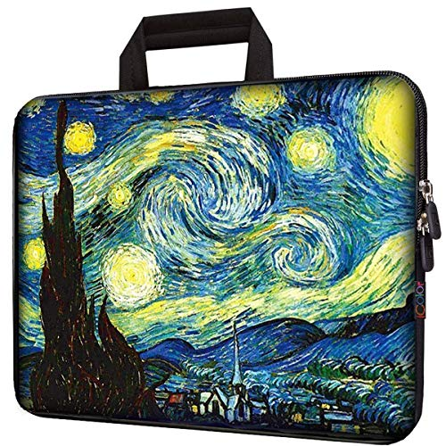 icolor 15.6 Laptop Bag Case 14.5 15.4' 15 inch Ultrabook Notebook Water Resistant Neoprene Carrying Pouch Computer Tablet PC Chromebook Sleeve Cover Holder Protection