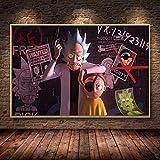 Cartoon Wandkunst Bild Anime Poster Home Dekoration