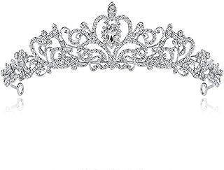 LUCKYYY Accessori da Sposa in Lega diadema Corona Copricapo da Sposa