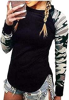 Women Camouflage Fall Long Sleeve Shirt Casual Blouse Tops Sweatshirt T-Shirt