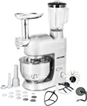 CHEFTRONIC Stand Mixer Tilt-Head 120V/650W Electric Stand Mixer with 5.5QT Stainless Bowl, 6 Speed Multifunctional Kitchen Mixer, Meat Grinder, Sausage Stuffer, Pasta Discs and Juice Blender …