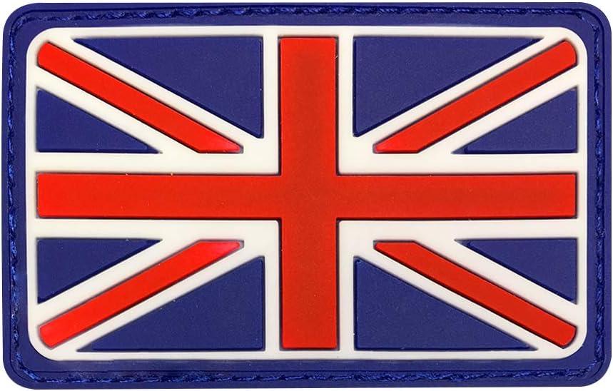 UNION JACK  RUBBER PATCH TACTICAL BADGE VELCOR BACKING UK Flag cap rucksack