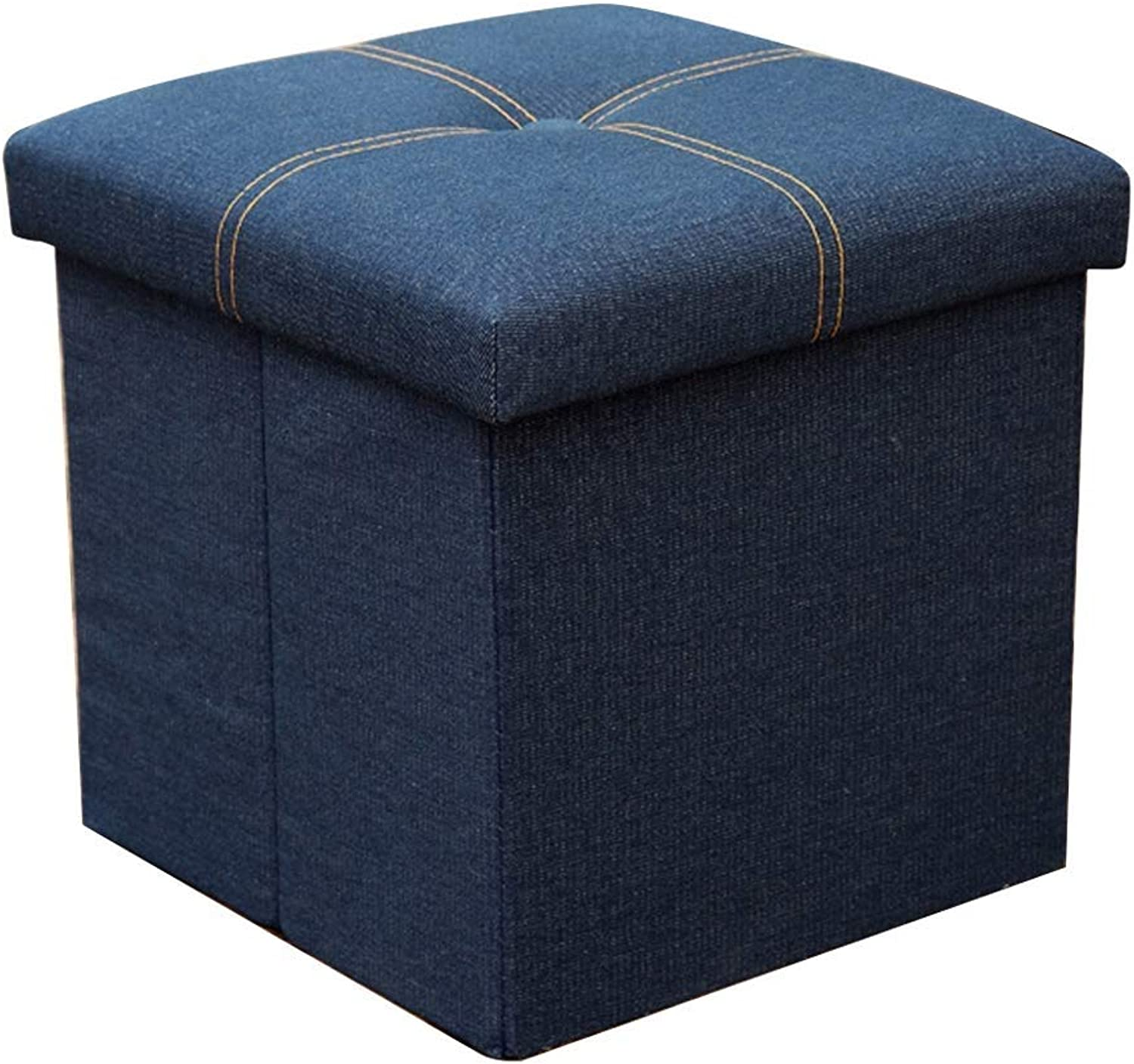 Cotton and Linen Foldable Storage Stool, Sturdy and Durable, Load-Bearing, Strong Storage Space, Large Storage Books, Toys, Debris, Space, Foyer, shoes Bench (color   C, Size   30x30x30cm)