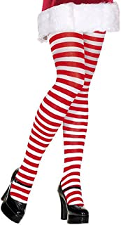 Red and White Striped Tights Red White Striped Tight Elf Tights Christmas Tights