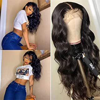 360 Body Wave Lace Frontal Wigs Human Hair Brazilian Virgin Hair 360 Body Wave Front Lace Wigs With Baby Hair Lace Frontal Wig Human Hair Body Wave Wigs for Black Women Lace Front Wigs(16 inch)
