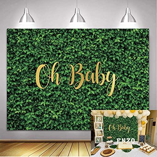 DANIU Zielone liście tło fotograficzne oh trawa dziecko natura tło na urodziny ślub safari dinozaur baby shower dekoracje budka fotograficzna (1,8 x 1,2 m ))