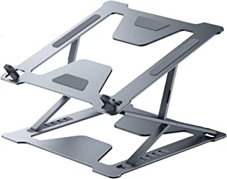 JUNEU Laptop Stand, Ergonomic 6+9 Levels Adjustable Computer Riser Laptop Holder Compatible with MacBook, Air, Pro, Dell X...