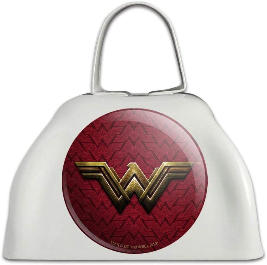 Long-awaited Justice League Superior Movie Wonder Woman Logo Cow Metal B White Cowbell