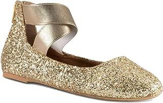 Girl Kids Dress Ballet Flat Elastic Ankle Strap Casual Flats Stretchy Strap Slip on Ballerina Shoes