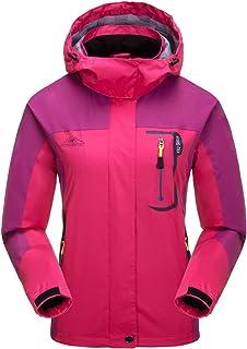 Chaquetas Softshell Ligeras para Mujer Impermeable Transpirable a Prueba de Viento Resistente al Agua Chaquetas al Aire Libre para Senderismo Ciclismo Trekking