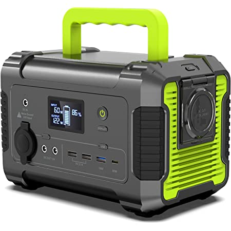 PAXCESS Portable Power Station 200W, 230Wh/62400mAh Emergency Backup Lithium Battery, 110V Pure Sine Wave AC Outlet, QC 3.0, USB-C PD Input/Output, Solar Generator for Home/Outdoor Camping Adventure