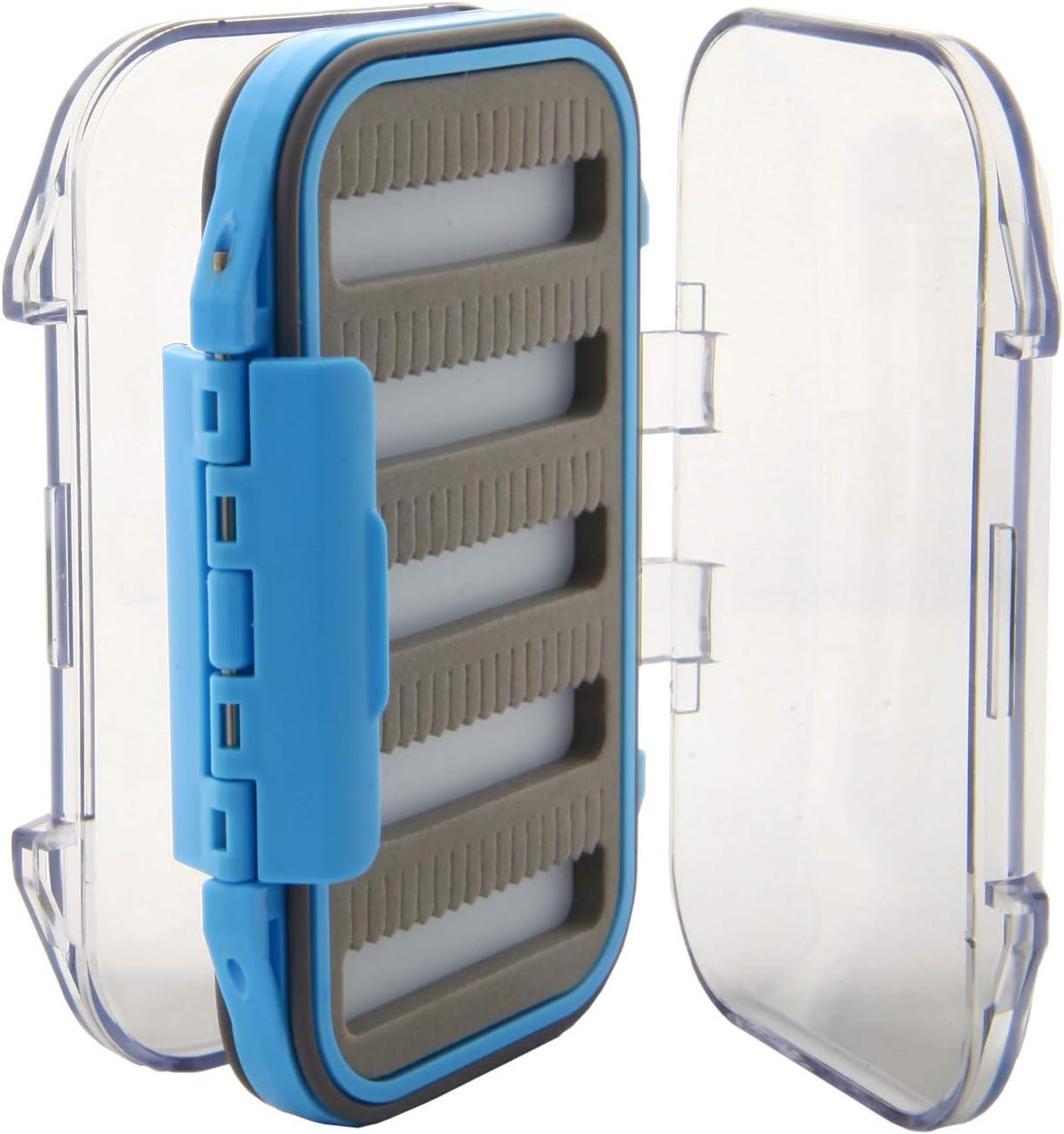 Regular dealer Blue Fly Box Waterproof Clear online shopping Lid Double-Sided