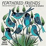 Feathered Friends 2022 Wall Calendar: Watercolor Bird Illustrations