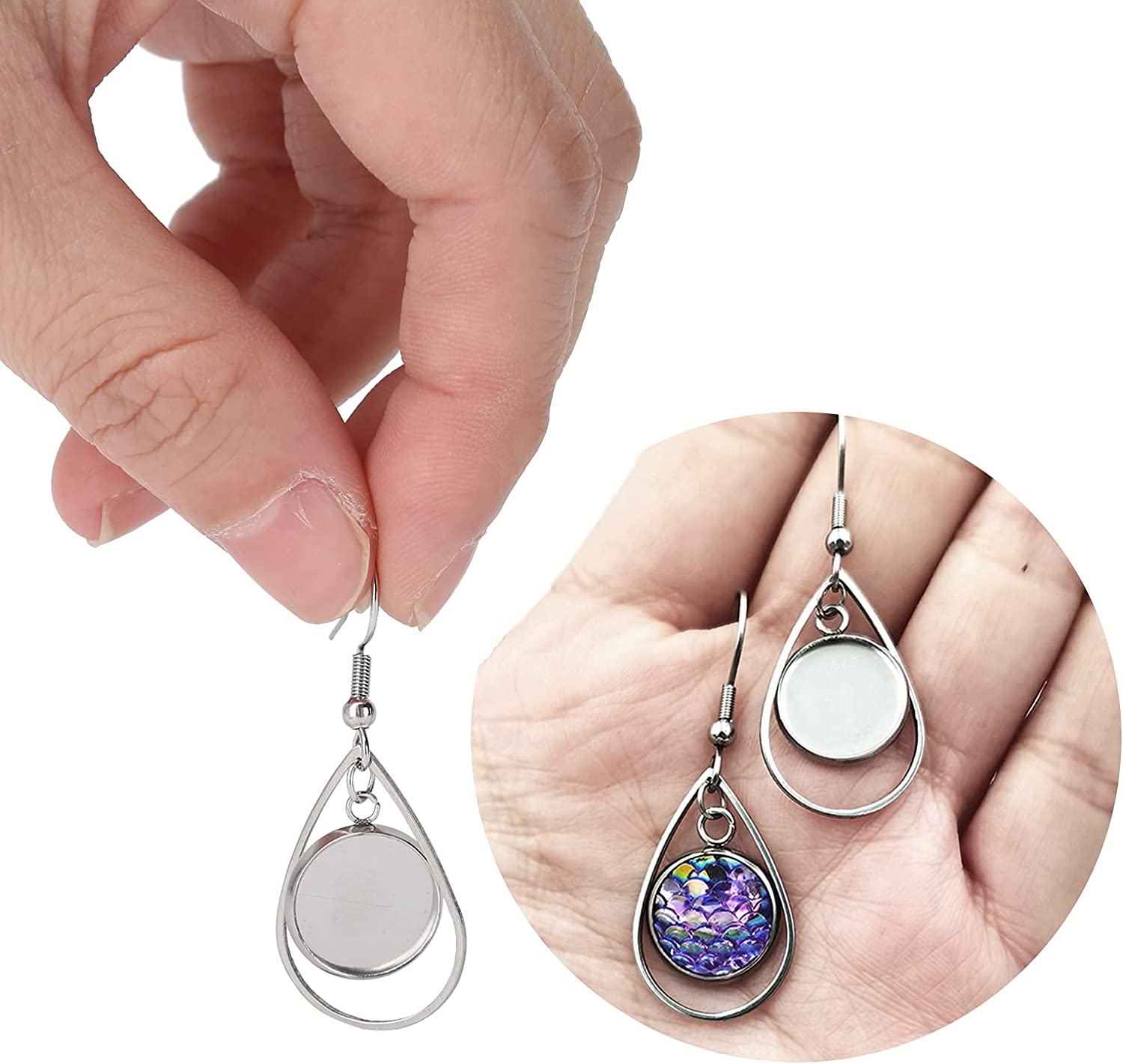 Wire Max 42% OFF Hooks Earring Trays Wide Japan's largest assortment Bezels Blank Range Stainl