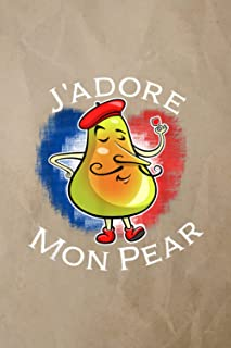 Account Information Notebook | Funny J'Adore Mon Pear Graphic For Papa On Fathers Day Pun