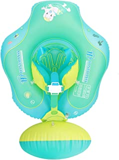 HANTAJANSS Baby Float Inflatable Swimming Ring Pool Raft Adorable Toddler Flotation Device Swimming Trainer 3-12 Month Infant