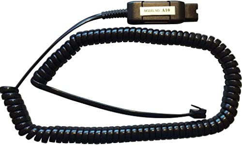 high quality A10 Cord Compatible with GN Netcom/Jabra QD Headsets, Smith Corona Classic QD Headsets - popular sale for Certain Avaya Phones outlet online sale