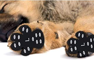 Dog Paw Pad Dog Paw Protector Anti-Slip Traction Pads Disposable Self Adhesive Dog Shoes Alternative Replacement to Keeps Dogs 6 Sets for 4 Paws