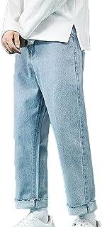 Generic11 Pantaloni in Denim da Uomo Stile Casual Piedi Dritti Larghi Non Facili da sbiadire Jeans Versatili Pantaloni a G...