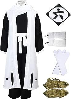 Death Bleach Kuchiki Byakuya Cosplay Halloween 6th Division Captain Cosplay Costume Full Suit