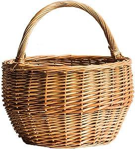 ZXY-NAN Aufbewahrungsbox Natural Handmade Storage Basket, Egg Basket, Cabbage, Blue Flower Basket, Picnic Bread, Fruit Basket, Wicker Storage Chests Furniture