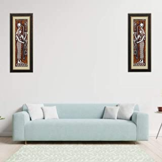 FrameBoy Ant-Egyptian Modern Art Wall Painting Set of 2 Synthetic Wood Framed Wall Hanging Photo for Living Room-Office-Co...