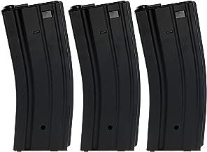 SportPro 300 Round Metal High Capacity Magazine for AEG M4 M16 3 Pack Airsoft – Black