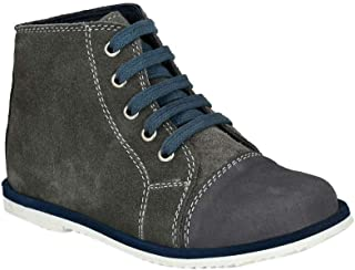 Hopscotch Tuskey Shoes Boys Leather  Lace Up Ankle Length Boot in Gray Color