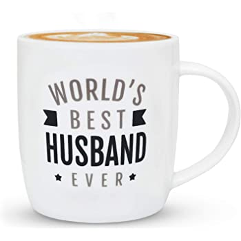 Triple Gifffted Worlds Best Husband Ever Coffee Mug For Him, Funny Greatest Cool Husband Gifts From Wife, Best Father's Gifts For Anniversary, Birthday, Valentines Day and Christmas, Mugs 13 Oz Cup