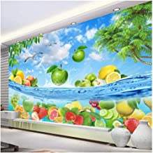 Yxjj1 Wallpaper 3D Photo Mural HD Fruit Fresh Summer Hawaiian sea Water Living Room TV Background Wall Paper mural-300 cm (W) x 200 cm (H) (9'10