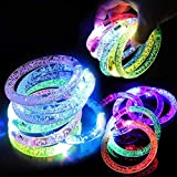Danolt 18 Stück Flash-Armband bunt leuchten LED...