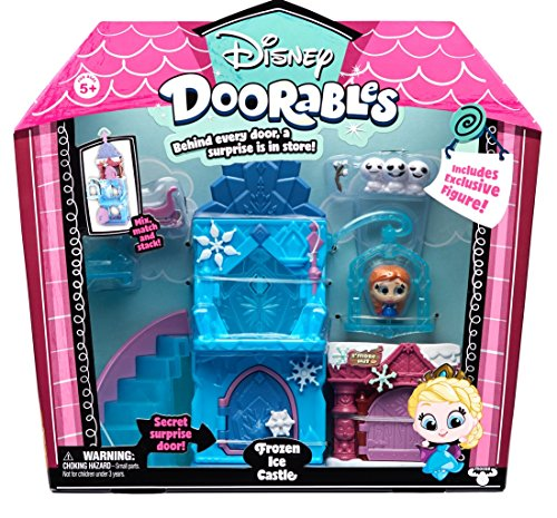 Doorables 35013 Frozen Disney - Juego de 3 figuras coleccionables con ojos de purpurina y muchos accesorios, para niños a partir de 5 años, diseño de Frozen , color/modelo surtido