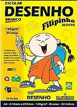 BLOCO DE DESENHO A4 140G/M² 20 FOLHAS BRANCO FILIPERSON
