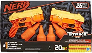 26-Piece Cobra RC-6 Dual Targeting Set -- Nerf Alpha Strike Set Includes 2 Toy Blasters, 4 Half-Targets, and 20 Official N...