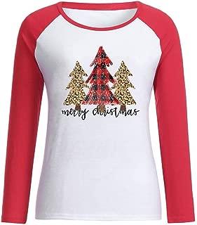 Peace Love Christmas Long Sleeve Top Women's Mosaic Contrast Letter Print T-Shirt