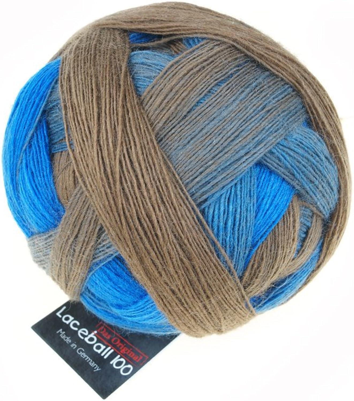 (2257 Aquatic Zone)  SchoppelWolle Lace Ball 100, Aquatic Zone