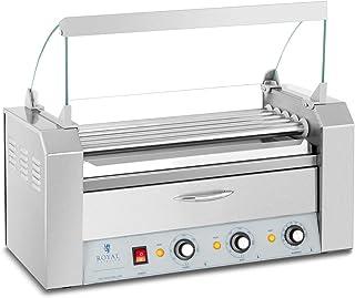 Royal Catering Cuoci Wurstel A Rulli Griglia Professionale Per Hot Dog RC-RG5DC (8 Salsicce, 1.420 W, 30–250 °C)
