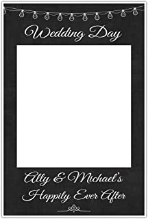 Wedding Day Photo Booth Prop Selfie Frame Poster