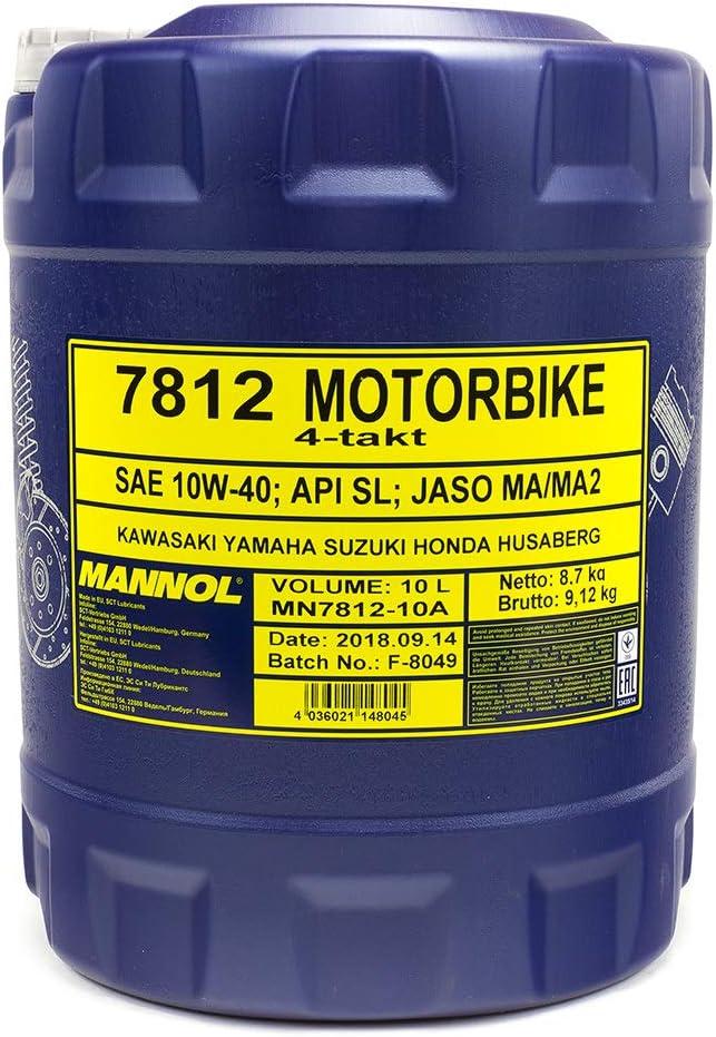 Mannol 7812 Motorbike 4 Stroke Api Sl 4 Litres Auto