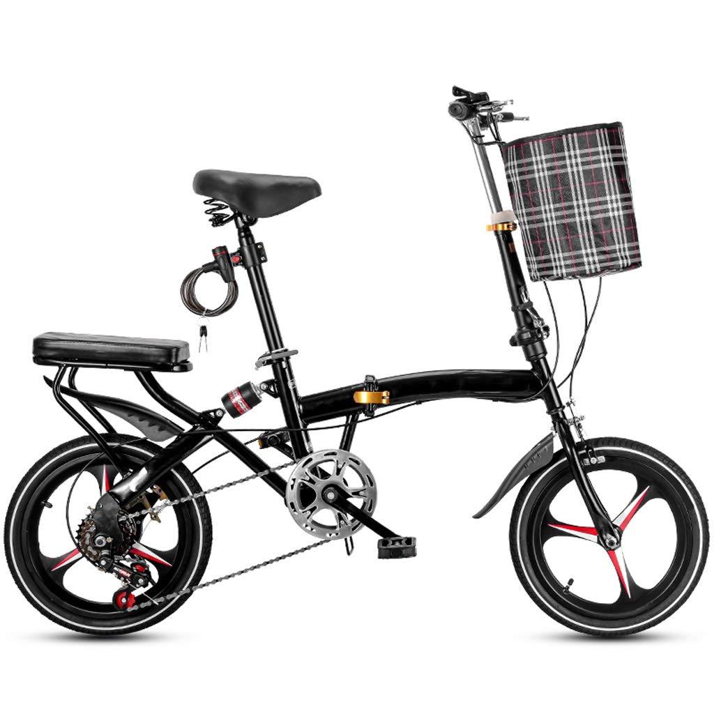 OFFA Bike For Bicicleta Plegable De 16 Pulgadas Ruedas for Hombres Y Mujeres Adultos, 6 Velocidad Crucero Bicis Ciudad Compacta Bicicletas Urbana del Viajero, for Niños Niñas Estudiantes De Coches: Amazon.es: Hogar