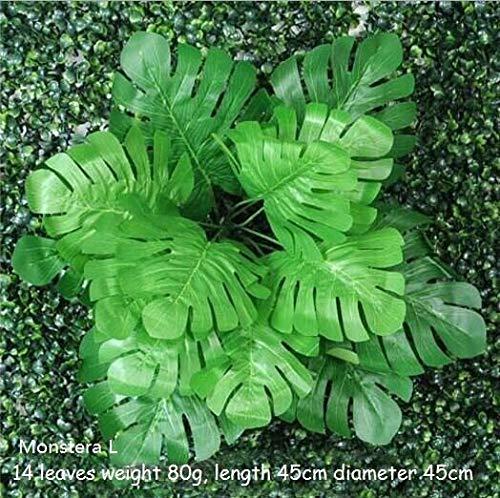CHZSDCP Künstliche Pflanze DIY Künstliche Kunststoff Gras Blätter Blumen Pflanzen Gefälschte Pflanzen Für Home Store Garten Vorstellen Wand Dekoration Monstera