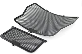 For BMW 2009-2019 HP4/ S1000RR/ S1000XR/ S1000R, Pre-curved Radiator Grille Guard and Oil Cooler Guard Kit (Black)