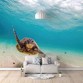 VITICP Adults Kids Wall Stickers Decals Peel and Stick Removable Wallpaper Blue Ocean Turtle for Nursery Bedroom Living Ro...