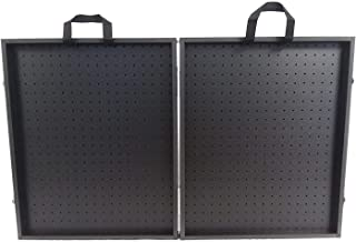 "Playwin All Black 3 3/4"" Thick Folding Pegboard Display Suitcase"