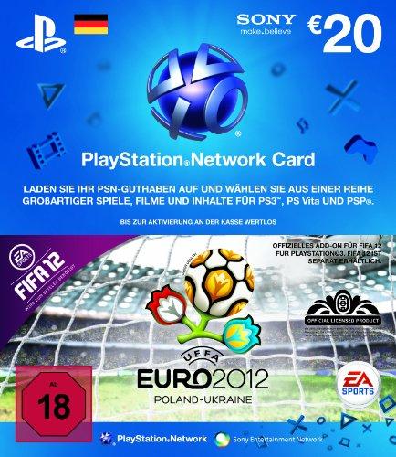 PlayStation Live Card 20 Euro (Deutschland) im UEFA Euro 2012 Design (FIFA 12 Add-On nicht enthalten)