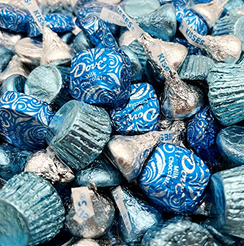 Hanukkah Chocolate Candy Assortment KISSES, Dove Squares Individually Wrapped, and More 2 lbs