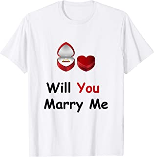 ee1aa0cf3 Will You Marry Me T-shirt cute promposals