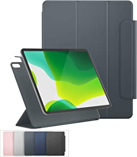 iPad Pro 11 Case 2018 with Pencil Holder, Support Strong Magnetic Attachment, Multiple Viewing Angles, Auto Sleep/Wake for iPad Pro 11, 2018 (Dark Gray)