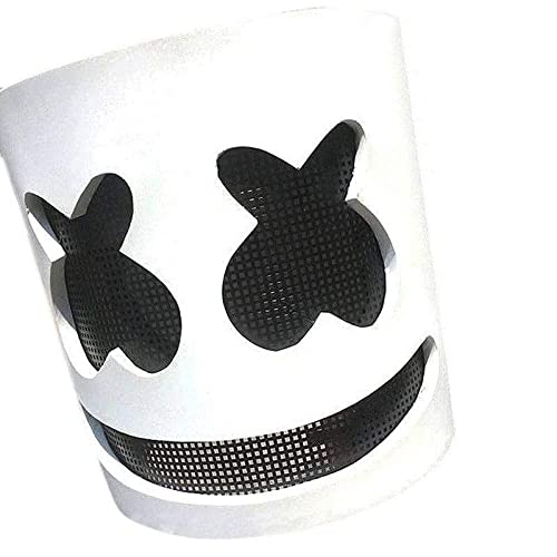 LBAFS Marshmello DJ Mask Full Head Helmet Halloween Cosplay Mask Bar Music Props