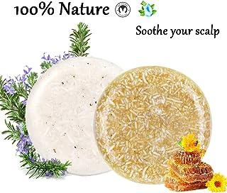 100% Vegan Shampoo Bar fürs Haar 2 Stücke Festes Shampoo Haarseife Naturkosmetik für Behandeltes Trockenes Geschädigtes Haar für Damen Herren Honig und Rosmarin